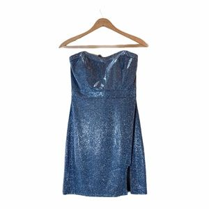 Social couture- Ice dark navy blue shimmer dress